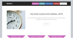 Сайт на една страница modest