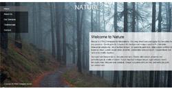 Сайт на една страница nature