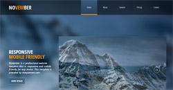 Сайт на една страница november