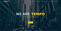 Сайт на една страница tempo